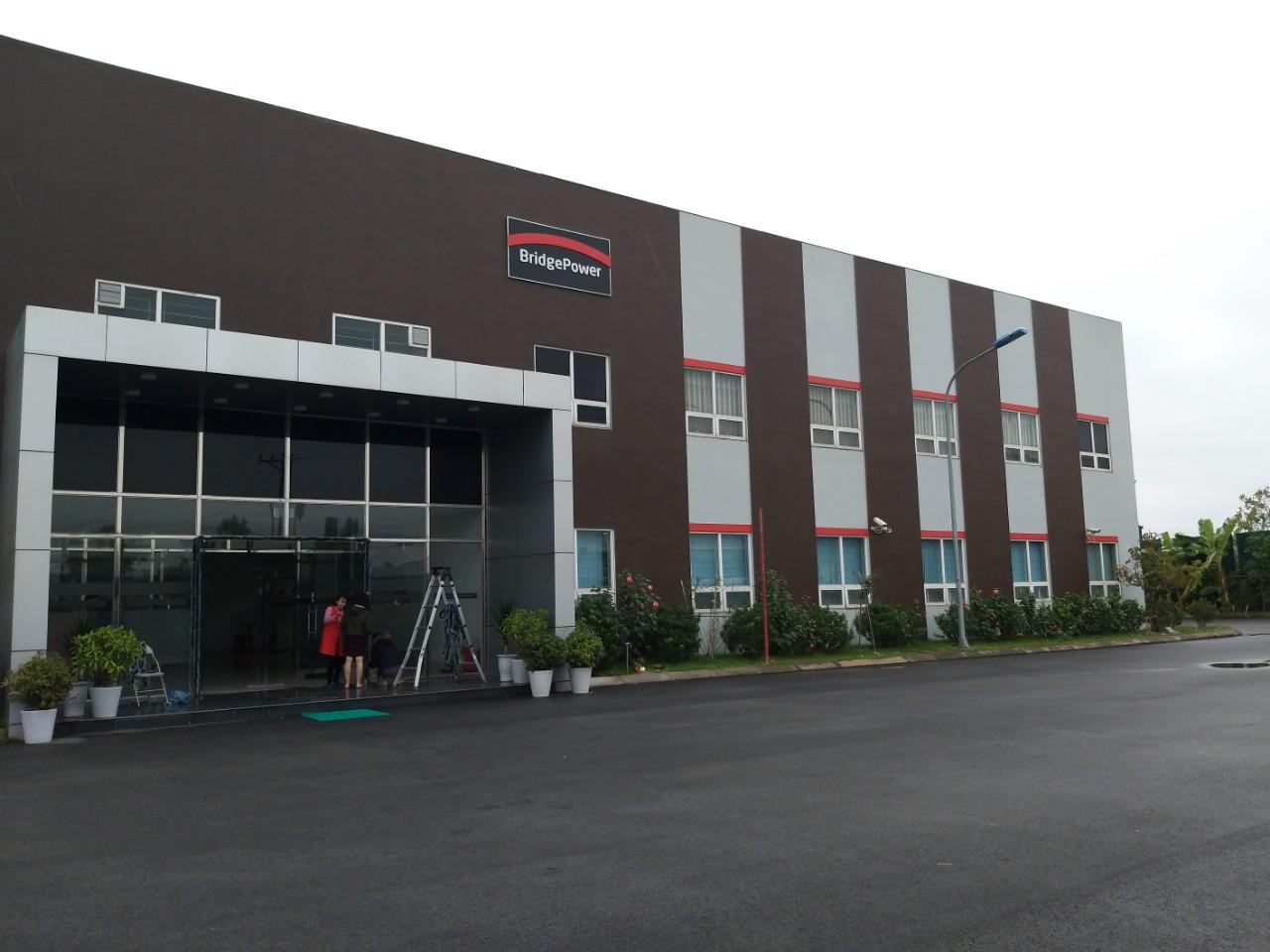 Hoàn thành lắp đặt hệ thống camera giám sát tại Công ty TNHH BridgePower Vina- Lô B9- KCN Thụy Vân- TP.Việt Trì- T.Phú Thọ.